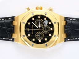 Fake Cool Audemars Piguet Royal Oak Chronograaf Goud Behuizing AAA horloges [ V6W7 ]