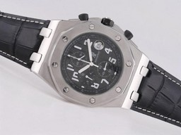 Fake Gorgeous Audemars Piguet Royal Oak Offshore Werken Chronograaf Met Zwarte Wijzerplaat AAA Horloges [ A6F9 ]