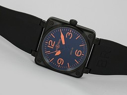 Fake Cool Bell & amp; Ross BR 01-92 Automatic PVD behuizing met Oranje Markering - Rubber Strap AAA Horloges [ F9F6 ]
