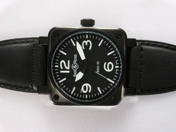 Fake Cool Bell & amp; Ross BR 01-92 Automatic PVD behuizing met witte markering 38x38mm AAA Horloges [ M5B7 ]