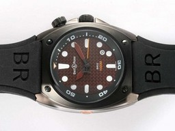 Fake Cool Bell & amp; Ross BR02 Instrument Duiker PVD behuizing met Brown Carbon Fibre AAA Horloges [ B7W6 ]