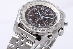 Fake Cool Breitling Bentley Kleine Date Automatic Movement Silver Case AAA Horloges [ E7S8 ]