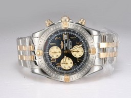 Fake Cool Breitling Chronomat Evolution chronograaf Two Tone AAA Horloges [ M9D1 ]