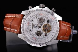 Fake Quintessential Breitling for Bentley Motors Automatic Tourbillon Silver Case AAA Horloges [ R1G6 ]