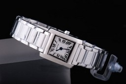 Fake Fancy Cartier Tank met White Dial Lady Size AAA Horloges [ N1L8 ]