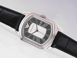 Fake Grote Emporio Armani met White Dial - Romeinse Markering AAA Horloges [ D9F4 ]