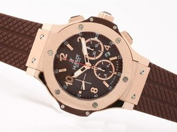 Fake Perfect Hublot Big Bang Chronograph Azië Valjoux 7750 Beweging Rose Gold AAA horloges [ H2F2 ]