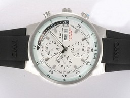 Fake Cool IWC Aquatimer Chrono Cousteau Divers Automatic White Dial AAA Horloges [ H3X9 ]