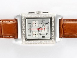 Fake Cool Jaeger - Lecoultre Reverso Werken Chronogragh Diamond Bezel AAA Horloges [ J5K2 ]