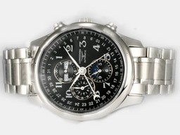 Fake Fancy Longines Master Collection Automatisch met Black Dial- Ceramic Bezel AAA Horloges [ D1B3 ]