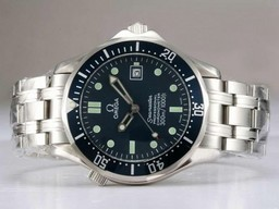 Fake Cool Omega Seamaster Automatic met Blue Dial en Bezel AAA Horloges [ M2X1 ]