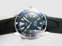 Fake Cool Omega Seamaster GMT Werken Automatisch met Blue Dial- Rubber Strap AAA Horloges [ P4B3 ]