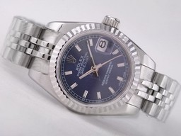 Fake Cool Rolex Datejust Beweging met Blue Dial- Stick Markering AAA Horloges [ O3K9 ]