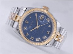 Fake Cool Rolex Datejust Beweging Two Tone met Blue Computer Markering AAA Horloges [ F3M3 ]