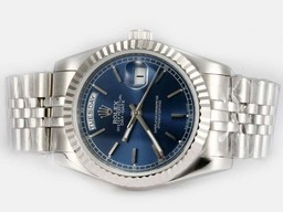 Fake Prachtige Rolex Day-Date Automatic met Blue Dial- Stick Markering AAA Horloges [ D7M9 ]