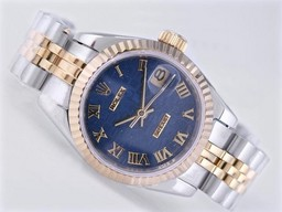 Fake Perfect Rolex Datejust Beweging Two Tone met Blue Computer Markering AAA Horloges [ W8C2 ]