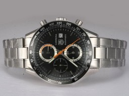 Fake Cool Tag Heuer Carrera Chronograph Automatic AR Coating Hetzelfde Chassis Als Movement AAA Horloges [ R7M8 ]