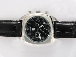 Fake Cool Tag Heuer Monaco Automatic met White Dial- Rubber Strap AAA Horloges [ H1E1 ]