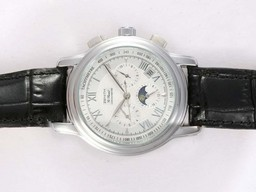 Fake Fancy Zenith Port Royal Chronograph Automatic Moonphase met witte wijzerplaat AAA Horloges [ K8D9 ]