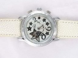 Fake Gorgeous Zenith Star Open zee Automatisch met witte wijzerplaat Lady Model AAA Horloges [ X7S3 ]