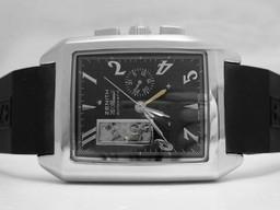 Fake Grote Zenith Grand Port Royal Open Automatic Black Dial met Rubber Strap AAA Horloges [ V6E4 ]