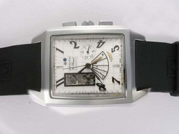 Fake Populaire Zenith Grand Port Royal Open Automatic White Dial met Rubber Strap AAA Horloges [ Q7F4 ]