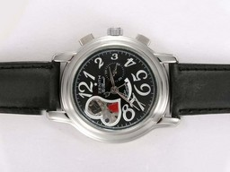 Fake Quintessential Zenith Star Open Queen Of Hearts Automatisch met Black Dial Lady Size AAA Horloges [ A5D2 ]